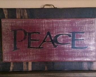 Wooden Wall Decor Peace Sign