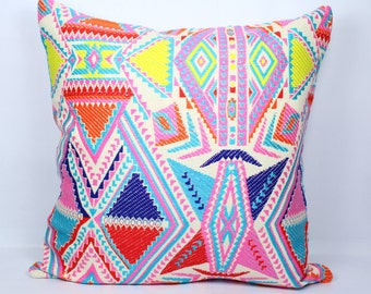 Geometric kilim pillow cover 20x20 multi color christmas throw pillow cover 18x18 red pillow cover 24x24 pillow covers christmas pillowcase