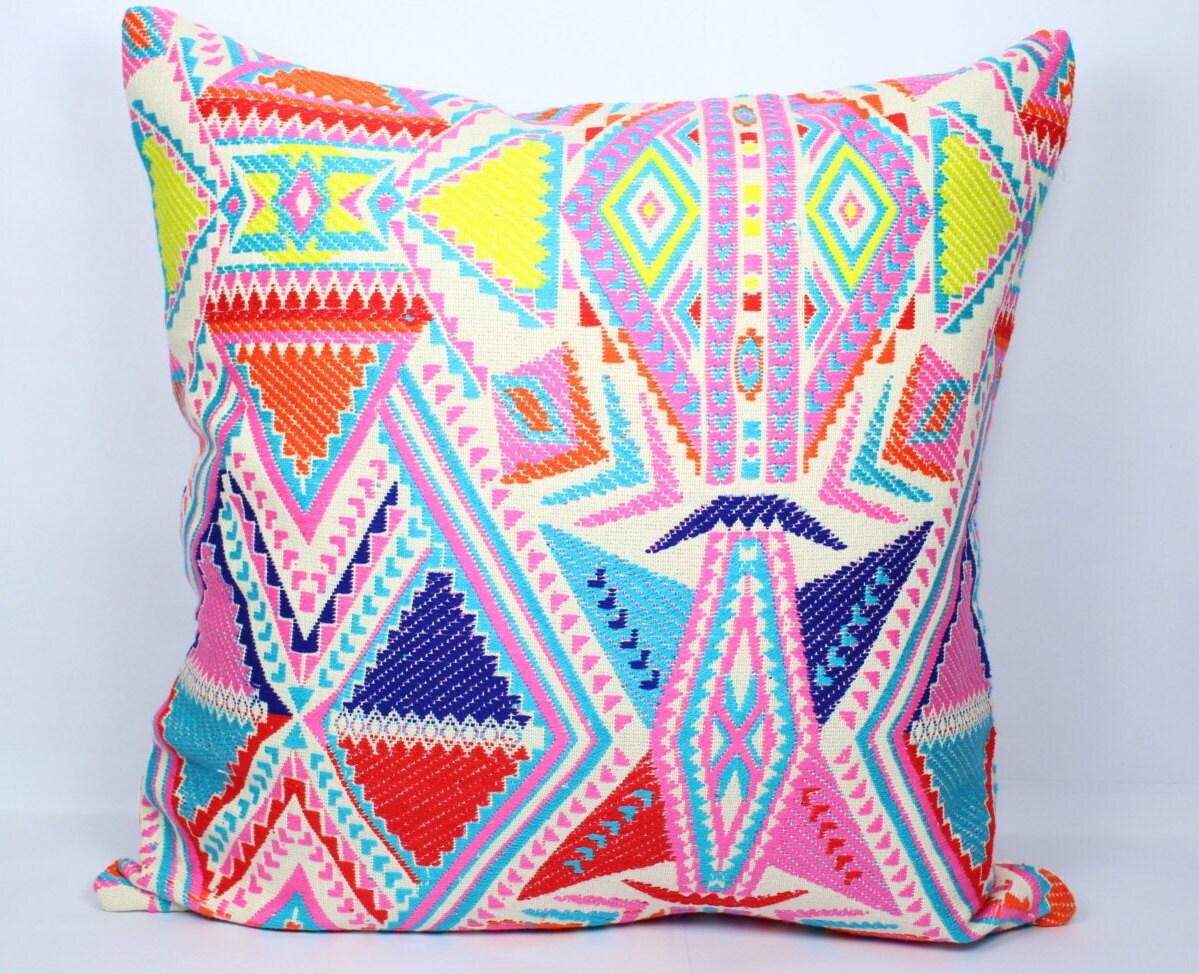 20x20 Throw Pillows Covers : Geometric kilim pillow cover 20x20 multi color christmas throw