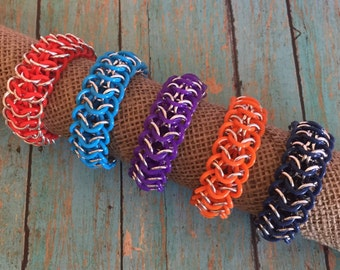 Chainmaille Stretch Bracelets - Stretch Chainmaille Bracelets - European 4 in 1 Chainmaille Bracelets - Interwoven 4 in 1 Chainmaille