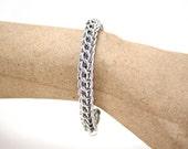 Unisex Full Persian Aluminum Chainmaille Bracelet, Chainmail Bracelet, Unisex Chainmail Bracelet, Men's Chainmaille Bracelet, Rope Chainmail