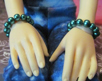 BJD Turquoise Pearl Bracelets
