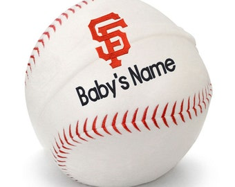 Personalized Baby San Francisco Giants Plush Baseball