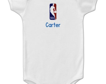 Personalized NBA Logo Baby Onesie