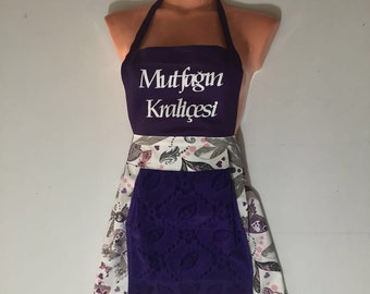 Full Vintage Kitchen Womens Apron , Cute personalized full Apron,