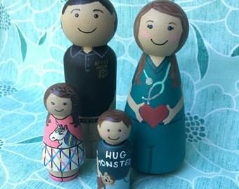 Custom Family Peg Dolls