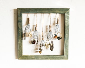 mini whisks earring holder | wall hanging | jewelry organizer