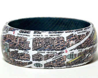 Bangles of NEW YORK city map