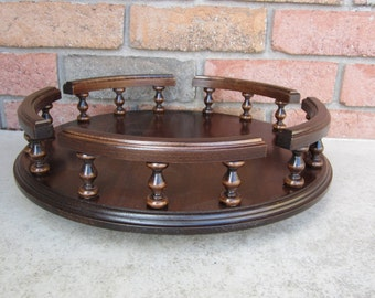 """Amish Handcrafted 14"""" Lazy Susan Turntable Solid BROWN MAPLE"""