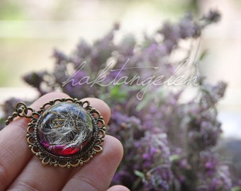 A wish in eternity resin necklace ~ Dandelion necklace ~ Real flower necklace ~ Pendant resin jewelry ~ READY TO SHIP ~