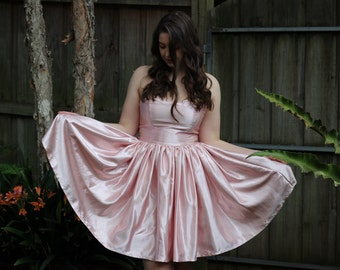 Pink Sweetheart Dress with Bow