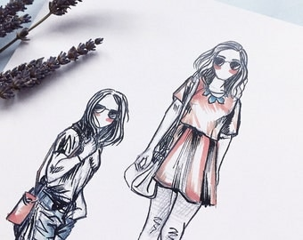 Day Out; Fashion Illustration; Art Print