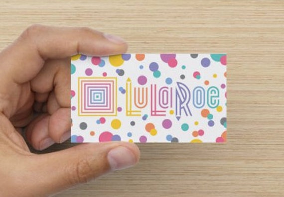Lularoe business card design by designsbyjayk on etsy for Etsy lularoe business cards