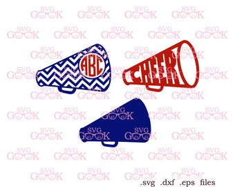 Cheer Megaphone SVG cut files, Cheerleading svg cut files for use with Silhouette, Cricut and other Vinyl Cutters, svg files