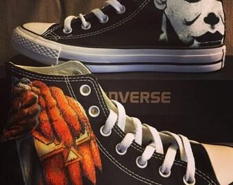 Custom Halloween Converse Chucks