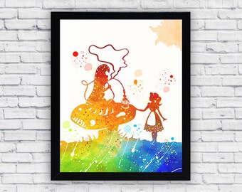 Alice In Wonderland Wall Art alice in wonderland wall art alice in wonderland decor