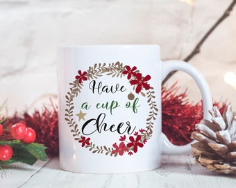 Christmas Mug - Holiday Mug - Christmas Gift - Ceramic Mug - White Ceramic Mug - Christmas Coffee Mug - Holiday Coffee Mug Stocking Stuffer