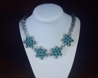 Snowflake Chain-mail Necklace