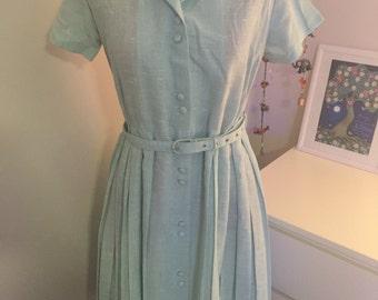 SALE Blue 50s day dress