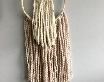 Double hoop yarn wall hanging