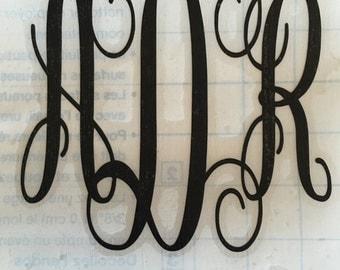 Script Vine Font Monorgam Decal~ YETI Monogram Sticker~ Monogram Cup Decal