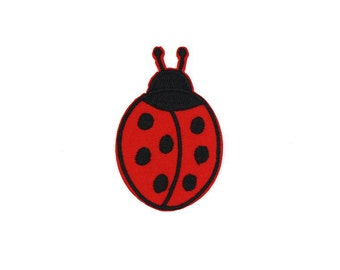 Ladybug Sew On / Iron On DIY Patch Embroidered Applique 4.5x7cm - RP271