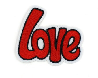 Love Patch Sew On / Iron On DIY Patch Embroidered Applique 8.2x7cm - RP329