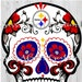 Steelers Multi-Layered SugarSkull SVG Instant Download