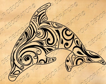 Dolphin svg , Zentangle design, scroll saw, vinyl cutting, wall decor, sticker, dolphin shirt, dolphin stencil, tattoo design, wall art