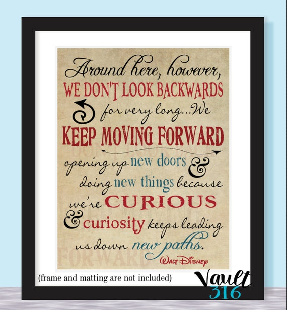 Keep Moving Forward // 8x10 // Disney Quote // Disney Prints