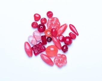 Czech Glass Bead Mix - Red Czech Bead Mix - Bead Mix - Beading Supplies UK