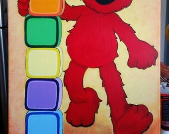 Elmo wall art | Etsy