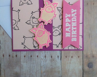 Have yourself A Piggy Happy Birthday Card