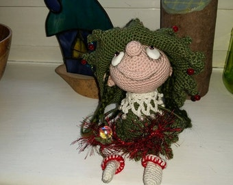 Mary Christmas Witch Art Doll