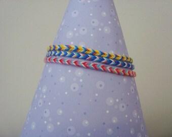 "Stacked Hand Woven ""Fishtail"" Friendship Bracelets"