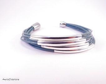 Women's leather bracelet - Handmade