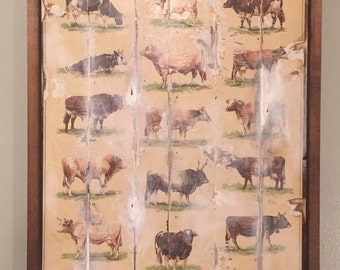 Framed Beef & Dairy Cow Breed Poster
