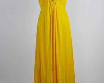 1960's-70's Sunshine Yellow Halter Dress