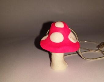 Cute toadstool pendant