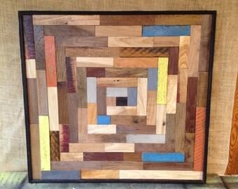Reclaimed Wood Wall Art Piece