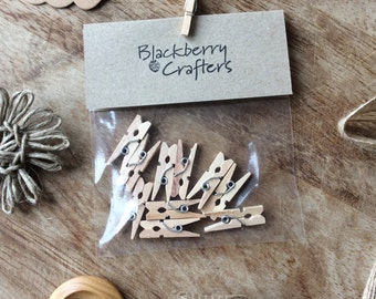 Wooden Mini Pegs - Pack of 10