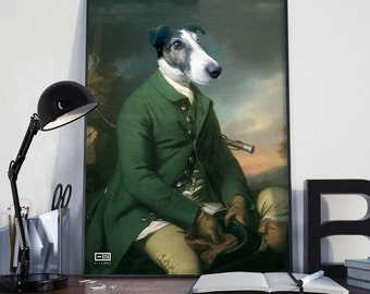 Dogs like works of art. Print on paper or canvas for accurate digital creations.