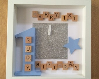 1st birthday photo frame, personalised gift