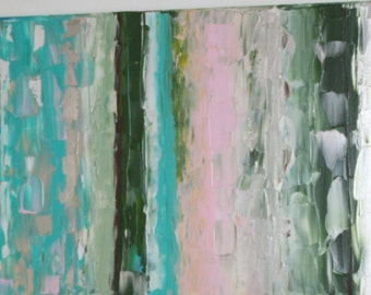 Big abstract acrylic contemporary painting on streched canvas
