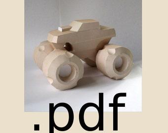 Monster Truck Papercraft PDF