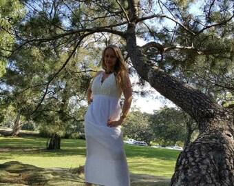 Off-white Lace Corset Dress