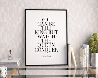 PRINTABLE Art,NICKI MINAJ Quote,Inspirational Quote,Motivational Print,Wall Decor,Girls Room Decor,Typography Print,Digital Print,Quote Art