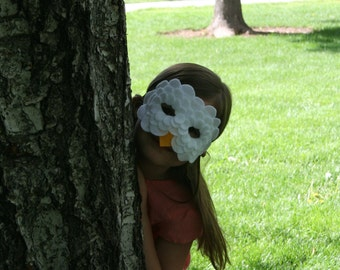 Children's Felt White Owl Mask