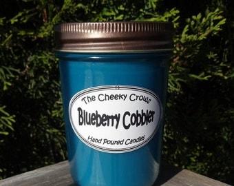 Blueberry Candle, Blueberry Cobbler Candle, Blueberry Soy Candle, Blue Candle, Scented Candle, Soy Wax Candle, Food Candle, Jar Candle, Soy
