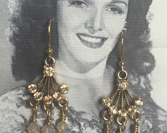 Small Gold Chandelier Earrings
